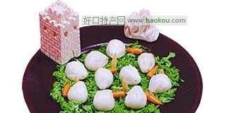 绿茵白兔饺